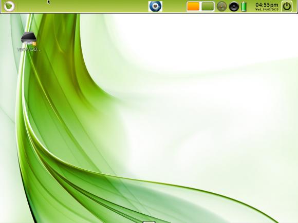 Bodhi Linux desktop