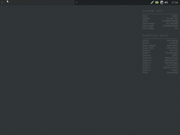 Crunchbang desktop